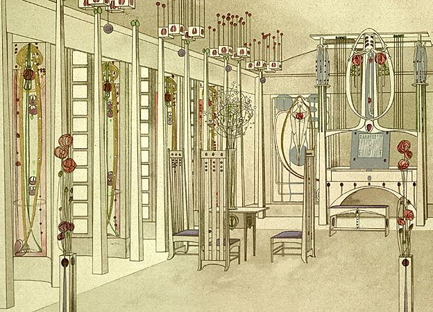 "Mackintosh design for ""House for an Art Lover"""