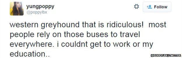 Frustrated passenger