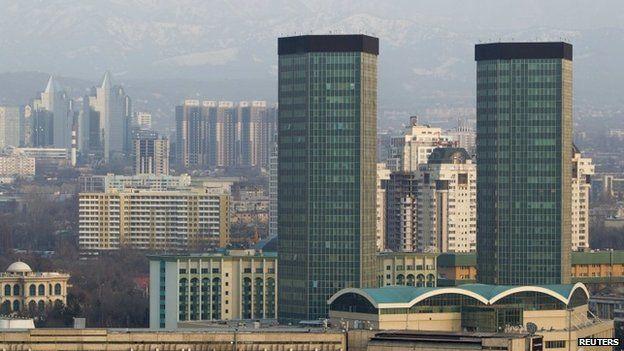 View of former Kazakh capital Almaty, 6 March 2015