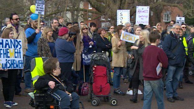 Hewett School protestors in Norwich