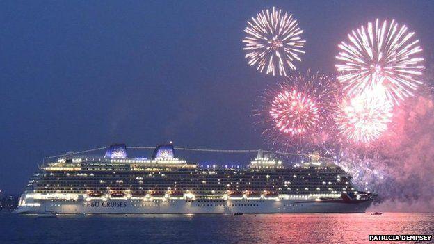 Britannia leaving Southampton