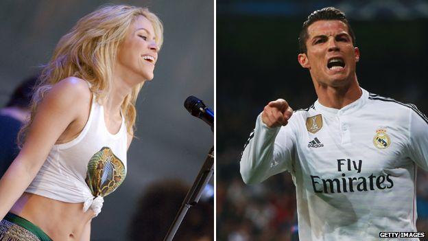 Shakira and Ronaldo