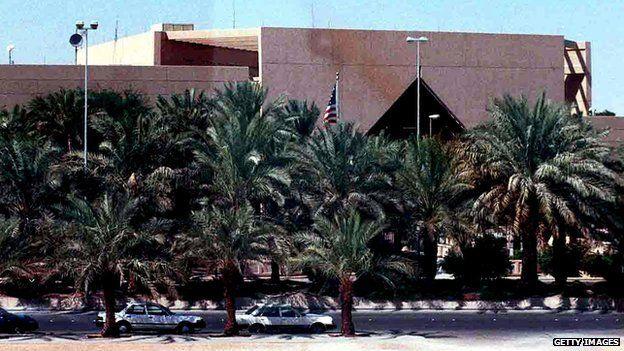US embassy in Riyadh (file image)