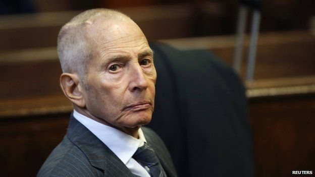 Real estate heir Robert Durst appears in a criminal courtroom for his trial on charges of trespassing on property owned by his estranged family, in New York 10 December 2014