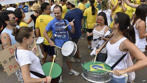 Anti-Rousseff protest in Belo Horizonte