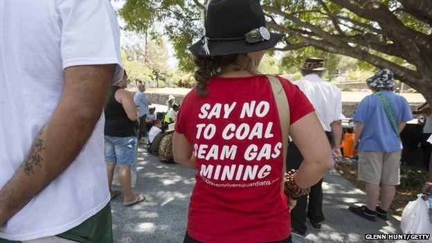 Demonstrators gather in Brisbane ahead of the G20 leaders summit