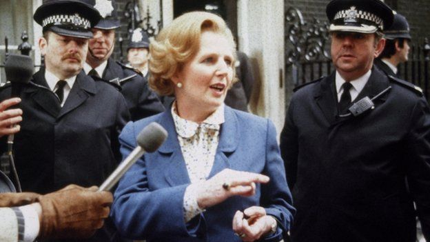 Margaret Thatcher arrives at Number Ten Downing Strret as Prime Minister, May 4th 1979