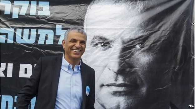 Moshe Kahlon at a polling station in Haifa, Israel, 17 March 2015