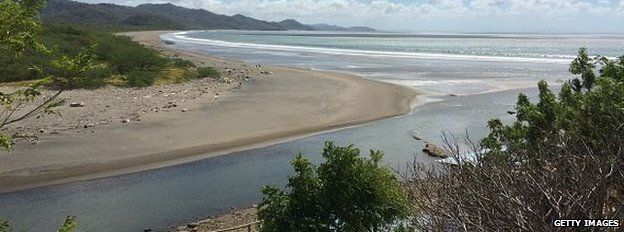 The beach where a Chinese billionaire wants to build a canal across Nicaragua.