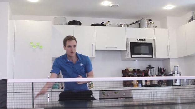 Sam Priestley in his kitchen