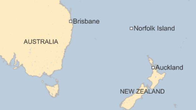 Australias Norfolk Island Faces Fight For Independence BBC News - Norfolk island map