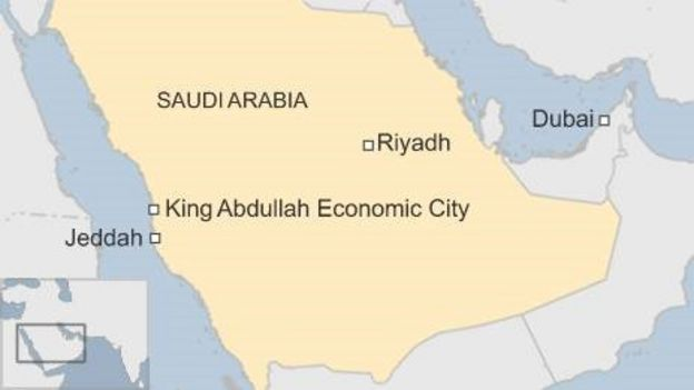 Saudi arabias new desert megacity bbc news map gumiabroncs Gallery