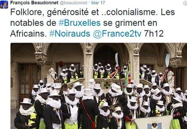 Twitter grab of les Noirauds