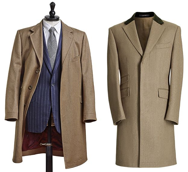 Covert coats by Cordings and Crombie