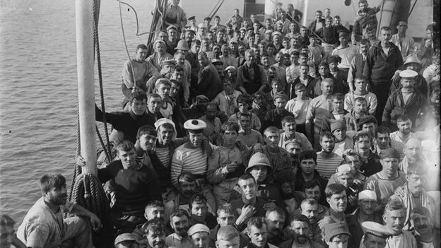 Some of the survivors from HMS Goliath