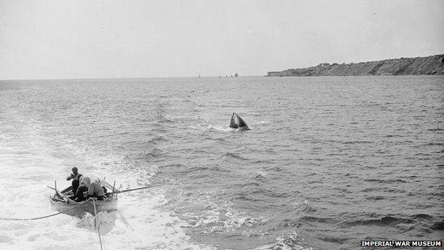 1919: A buoy marks the spot where the Goliath sank