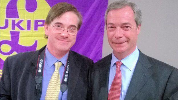 Stephen Howd and UKIP leader Nigel Farage