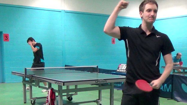 Sam Priestley winning a game