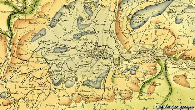 William Smith Seminal Geology Map Rediscovered BBC News - Early us geological mapping