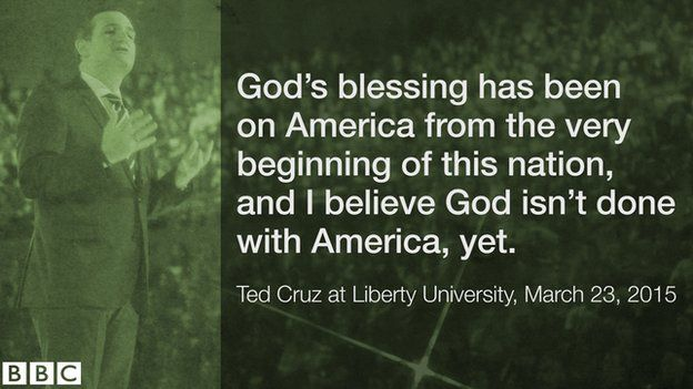 A quote from Ted Cruz's announcement speech.