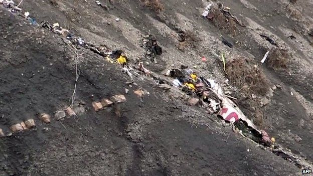Wreckage of Germanwings flight