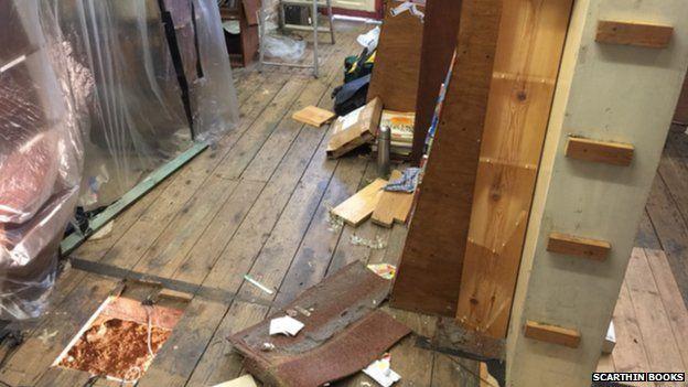 Damage at Scarthin Books