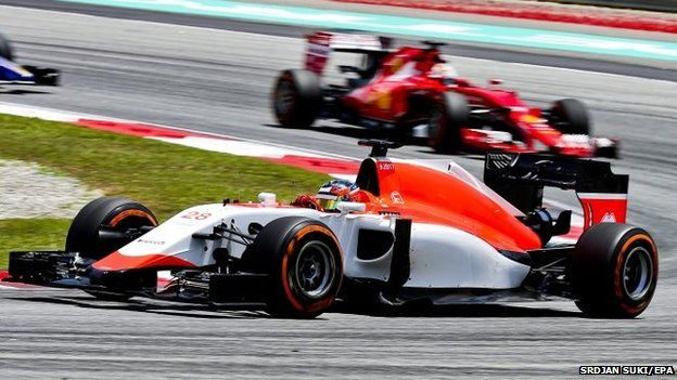 British Formula One driver Will Stevens of Manor Marussia