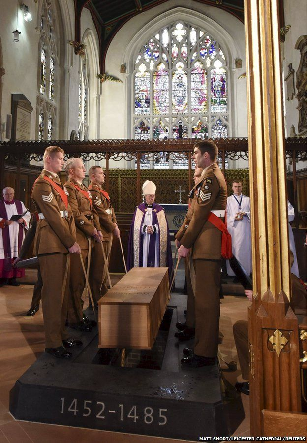 The Archbishop of Canterbury, The Most Rev Justin Welby, presides over the reburial of King Richard III