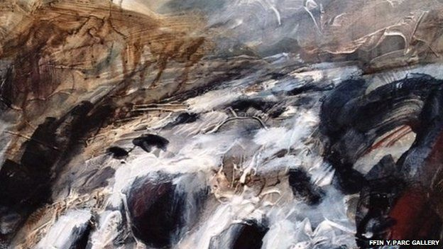 Ian H Watkins's painting 'Shadows of White'