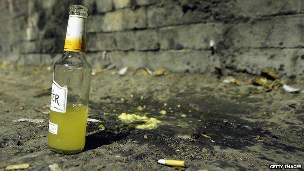 A bottle left in the street in Bath