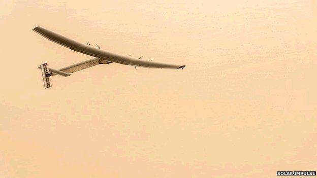 Solar Impulse on Abu Dhabi to Muscat leg