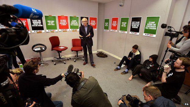 Ken Loach at press conference