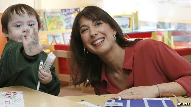 Samantha Cameron during a visit to a school in Rainham, Kent