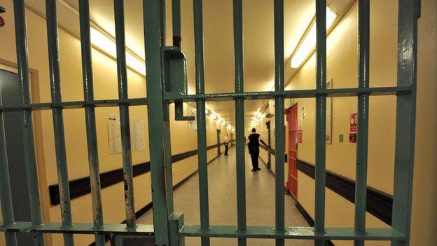 A barred door in Wormwood Scrubs