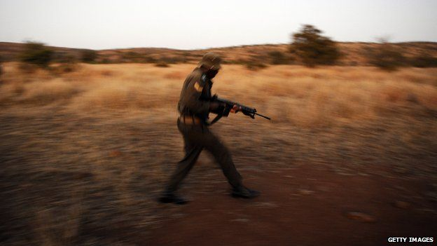 A ranger on patrol in the Kruger National Park