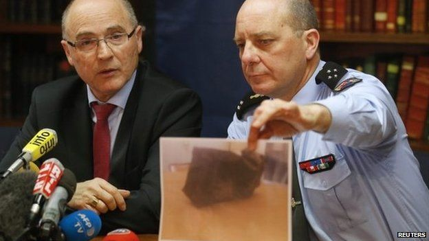 French prosecutor of Marseille, Brice Robin (L) and French Gendarmerie General David Galtier (R)