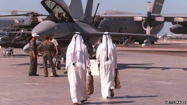 Warplanes at an airport in UAE