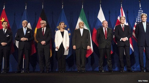 World representatives at the end of talks in Switzerland
