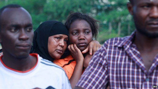 Kenyan university students, day after the attack
