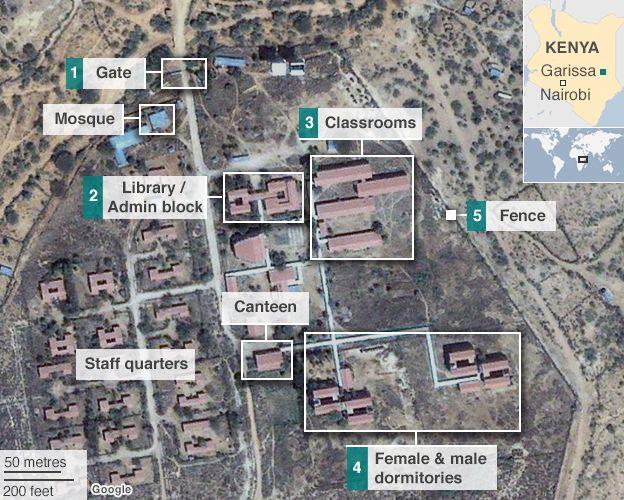 Garissa University map