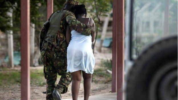 Student and soldier in Garissa, Kenya