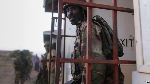 Kenyan military at Garissa