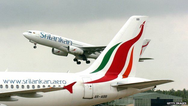 A Sri Lankan airlines Airbus takes off from the Bandaranaike International Airport, 03 May 2007
