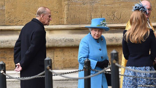 Queen and Prince Philip at Windsor 2015