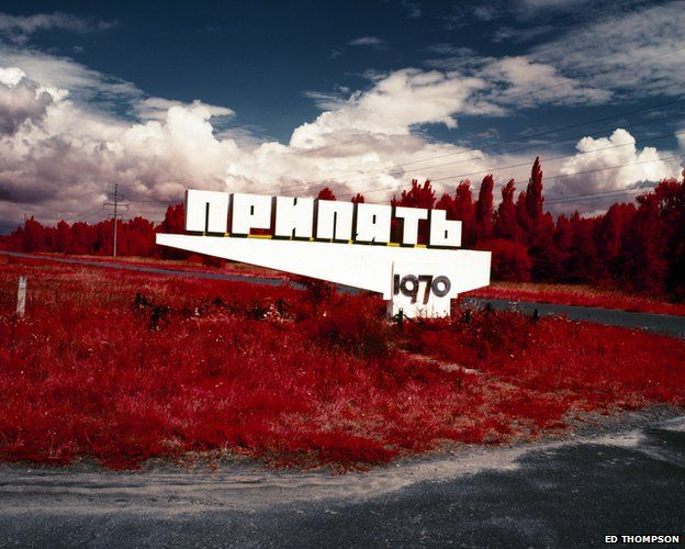 The Red Forest: Pripyat sign, 2012