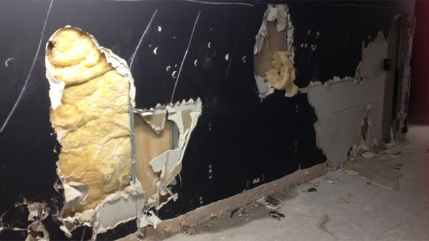 Plasterboard damage
