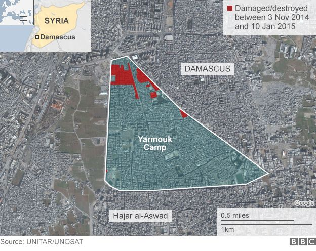 Map of Yarmouk