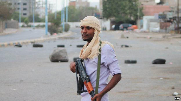 Fighter to Yemeni government in Aden, 7 April