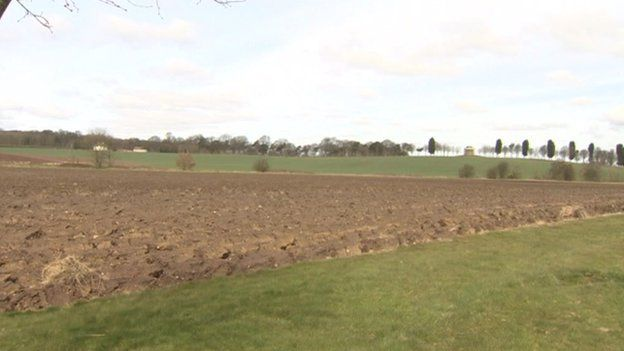 Farmland due to be built on