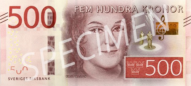 Swedish 500 kronor note